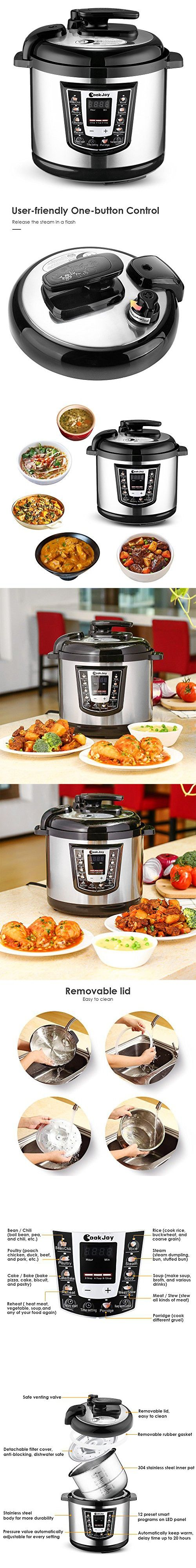 Electric Pressure Cooker 6 Litre 8-in-1 Programmable Multi-Cooker