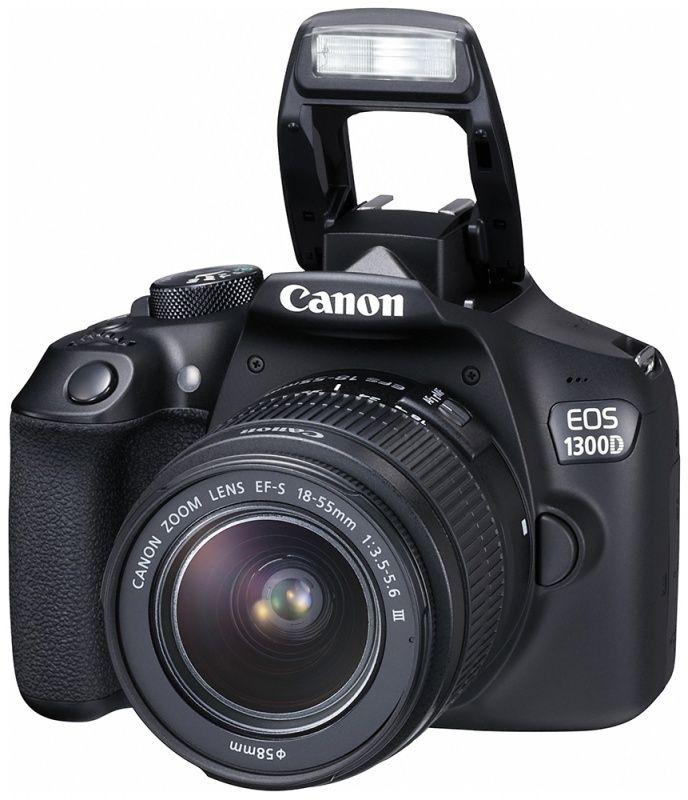 Canon EOS 1300D EF-S 18-55 IS II (черный)