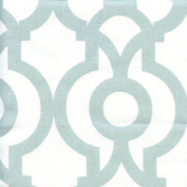 Lyon Snowy Blue Contemporary Drapery Fabric by Premier Prints - 48078   BuyFabrics.com
