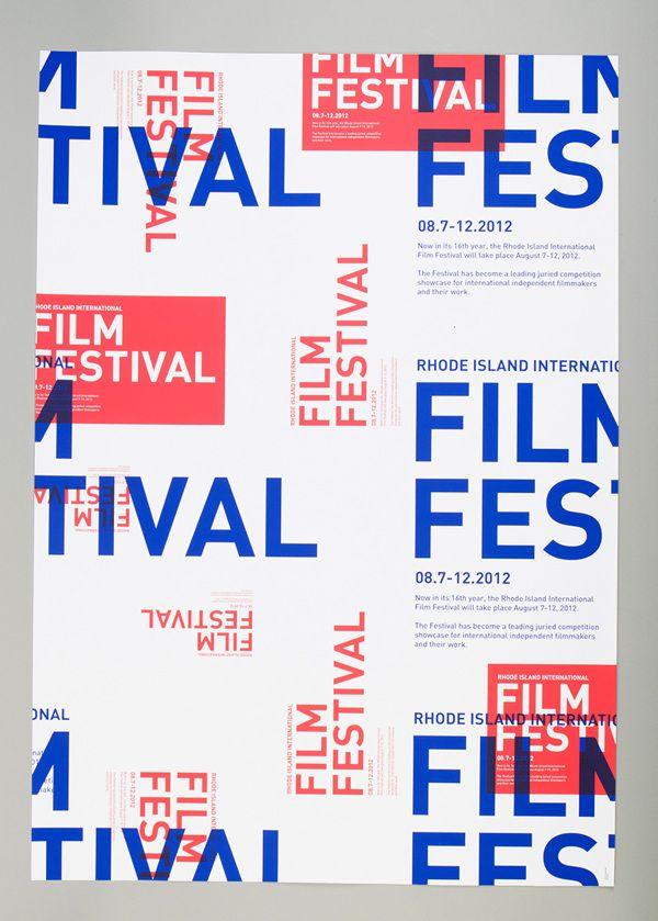 rhode island international film festival by kitron z neuschatz, via Behance