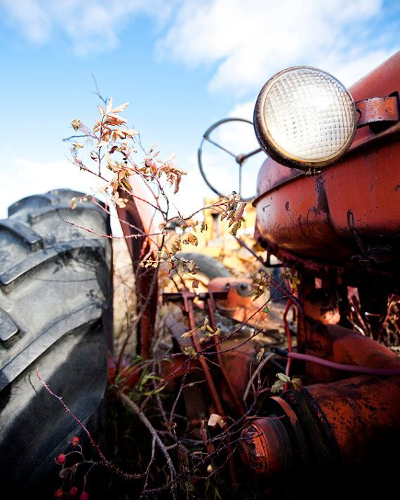 8x10 Luster Print  Tired Little Tractor by AveyChristiansen, $20.00