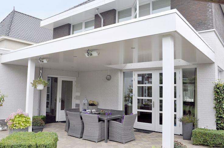 Houten terrasoverkapping met Lessenaarsdak - Theo Jansen