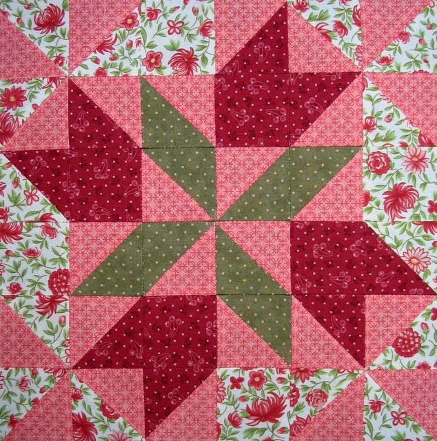 Four Winds Quilt Block. Image only. In The Farmer's Wife Sampler by Laurie Aaron Hird