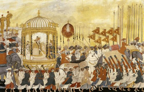 State Procession Of Raja Tulsaji Of Tanjore, Circa 1780 by Christie's Images - art print from King & McGaw