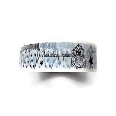 Masking tape noir et blanc 15 mm x 10 m  chouettes holiday zoo