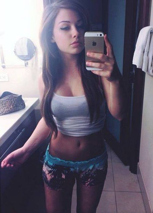 Sexy Mirror Selfie  Babes  Shorts With Tights, Sexy -3274