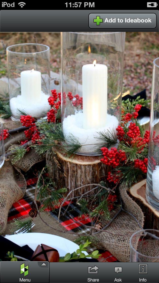 Christmas! little stumps for winter wedding