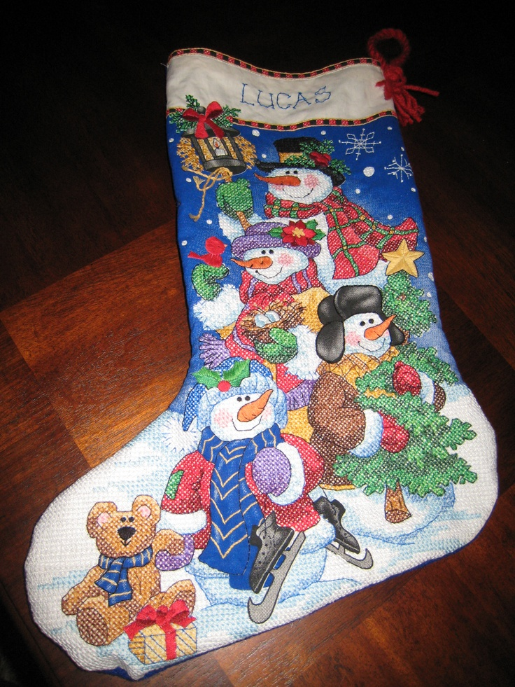 Solved. Christmas cross stitch stocking kits