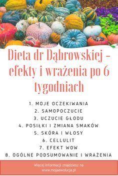Dieta dr Dąbrowskiej - efekty i wrażenia. Na www.mojaewolucja.pl opisuję, co udało mi się osiągnąć, w czym mi dieta nie pomogła. Zapraszam do lektury.