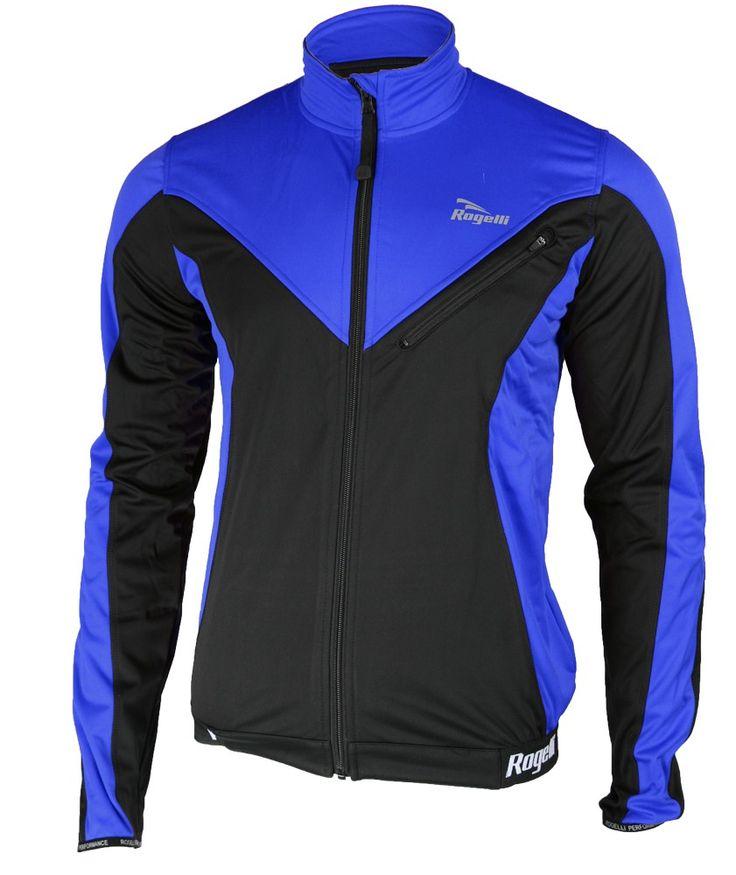 ROGELLI TRAPANI - zimowa kurtka rowerowa, SOFTSHELL - niebieska Niebieski - MikeSport.pl