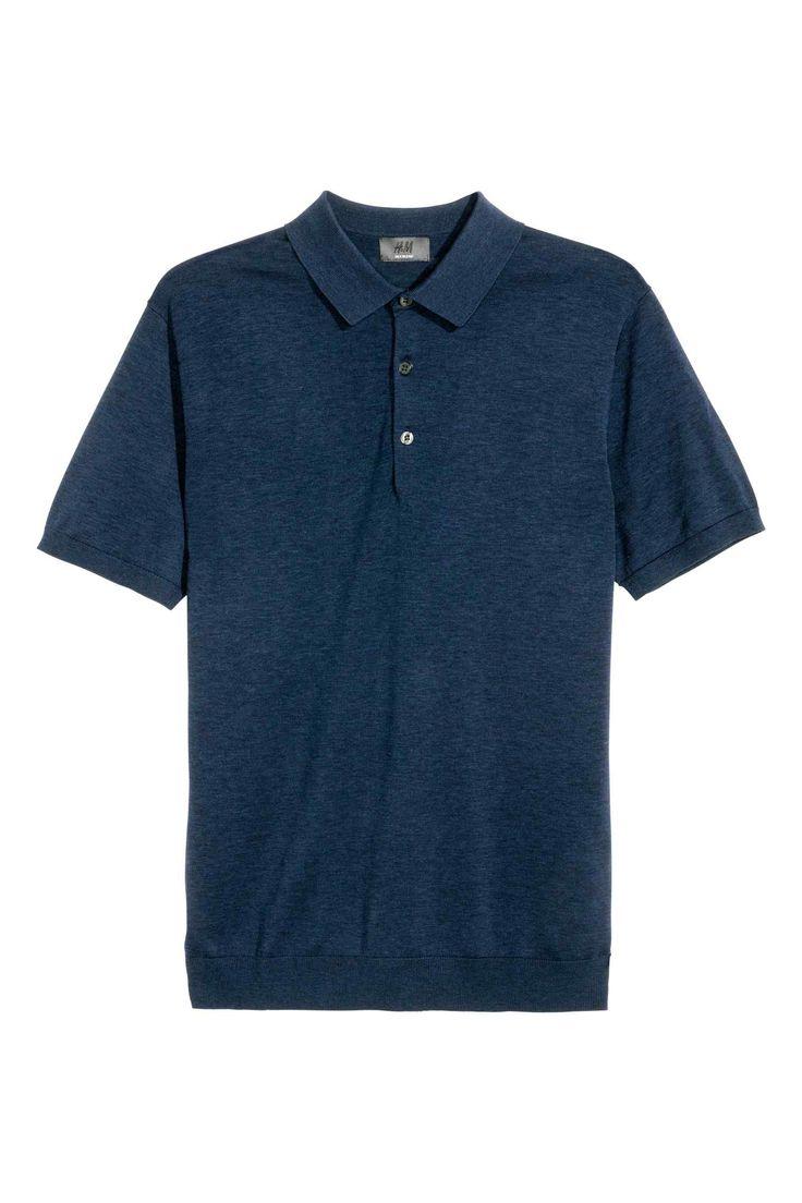H&M Silk-blend polo shirt PREMIUM QUALITY
