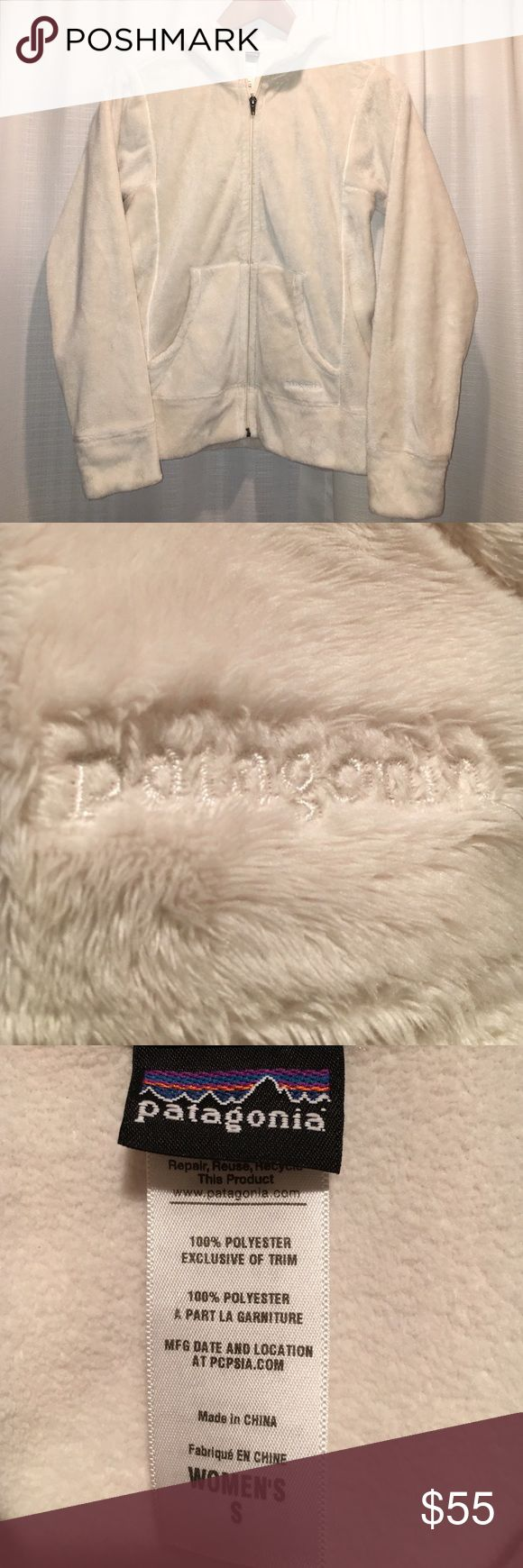 Patagonia Fleece Jacket Women's Patagonia Fleece Jacket. Size Small. Off White/Cream. Super soft, like The NorthFace osito. No flaws. Excellent condition. Non smoking home. Patagonia Jackets & Coats