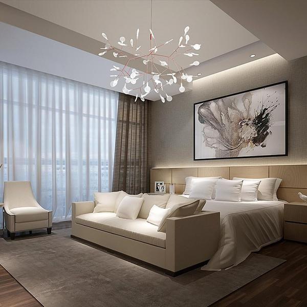 Modern Led Olive Branch Chandelier Warmly Chandelier Bedroom