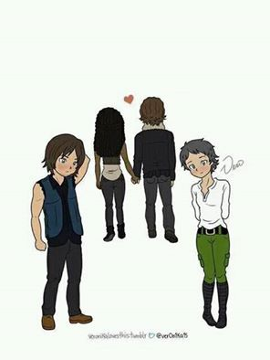 WALKING DEAD - Couples ~ Richonne ~ Rick and Michonne ~ The Walking Dead || Daryl and Carol