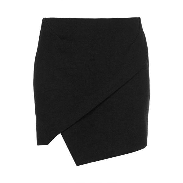 TOPSHOP Asymmetric Wrap Mini Skirt found on Polyvore