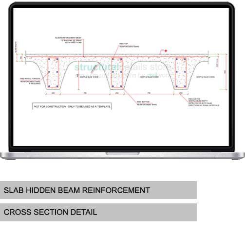 Waffle Slab Cross Section Reinforcement Detail Detail