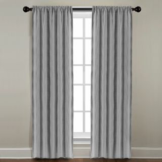 Grand Luxe Grey All Linen Gotham Rod Pocket Window Panel