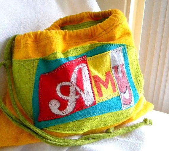 Name your Stuff ONE What's Your Word LINED Wristlet  Pouch Custom made 100% from tshirt sleeves mate