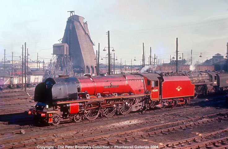 """www.haveit.cz Coronation Pacific 46240 """"City of Coventry"""" on Willesden shed"""
