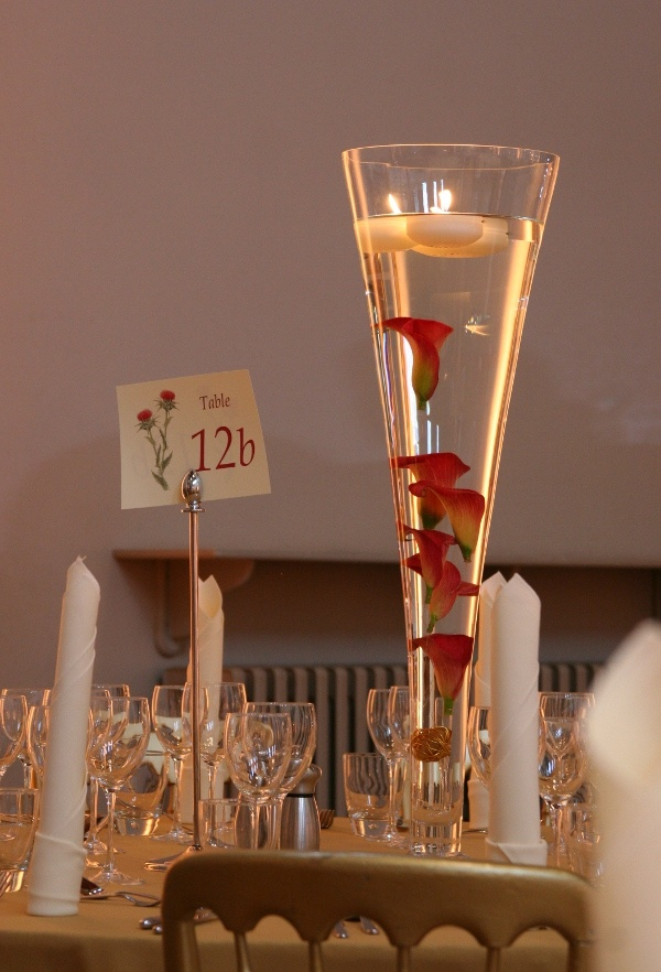 Trumpet vase centerpiece wedding pinterest