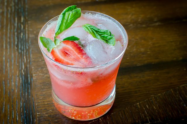 Strawberry-Basil Mojito - I think this would be super yummy, even without the rum. Fun summer time beverage!