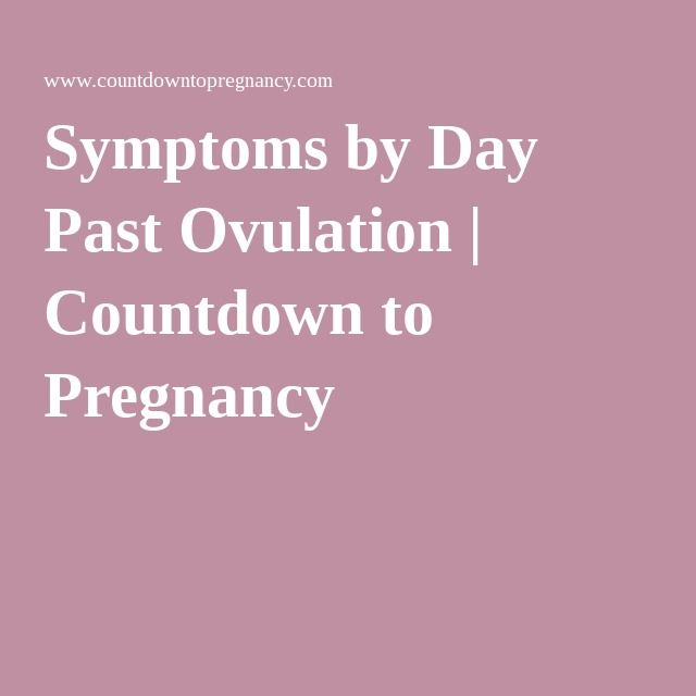 Symptoms by Day Past Ovulation | Countdown to Pregnancy