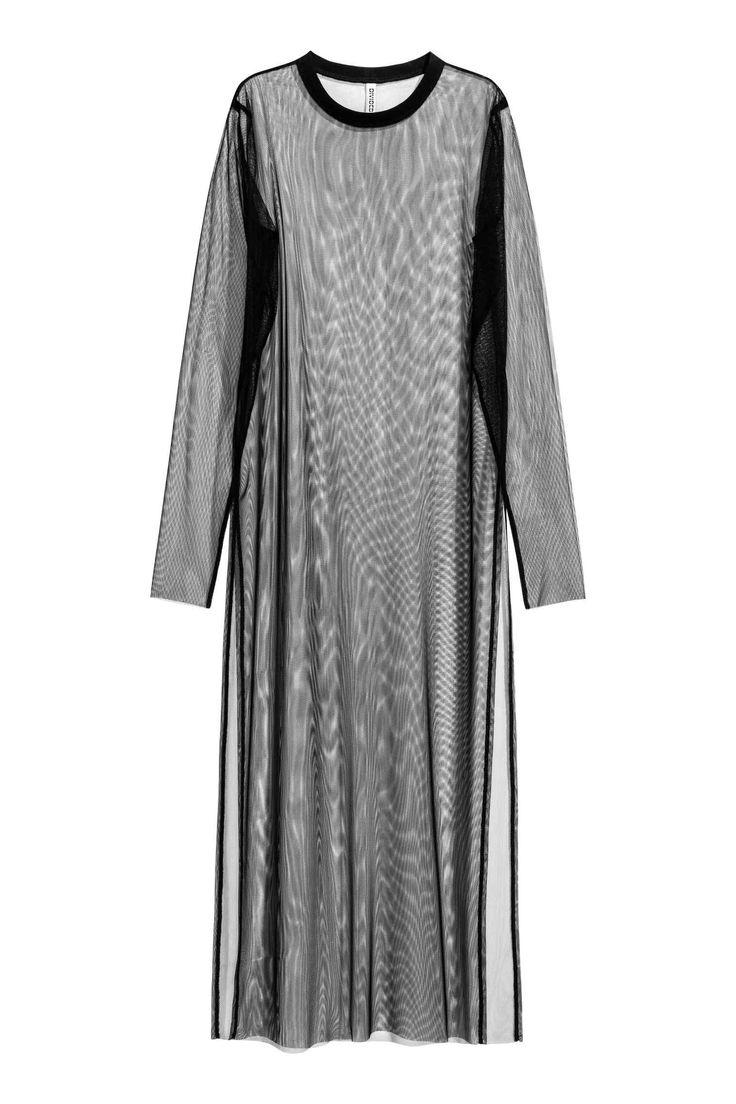 Robe maxi en mesh | H&M - à porter par dessus pantalon+top