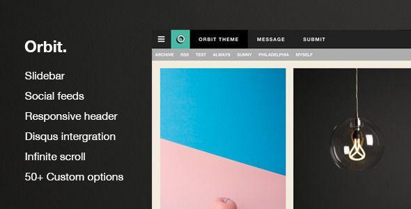 Orbit - Responsive Blog And Portfolio Theme