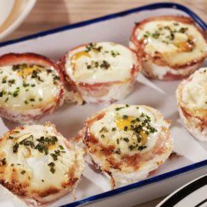 Bacon + Egg Cupcakes