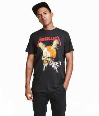 T-shirt med tryk str. XS
