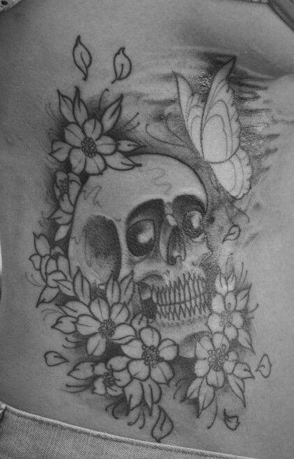 #tattoo, #skull, #cranio, #rosa, #skulltattoo