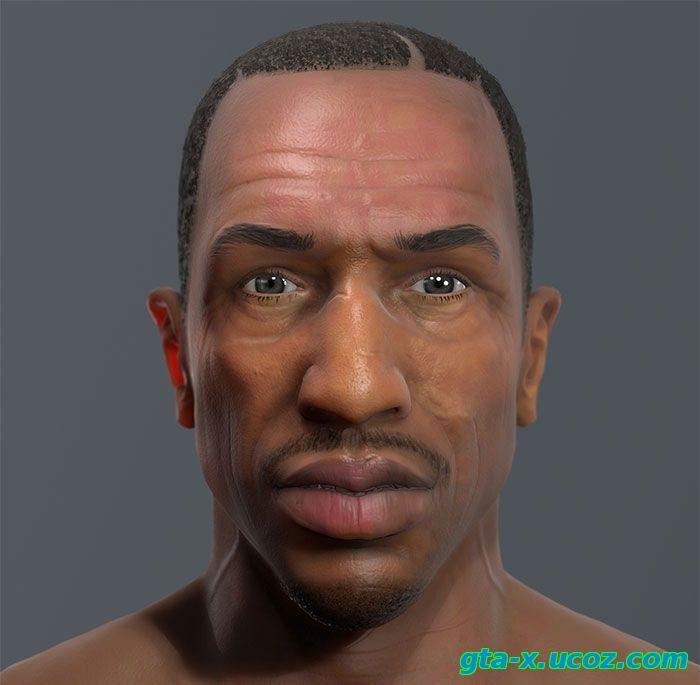 Как сорокалетний CJ мог бы выглядеть в GTA 5