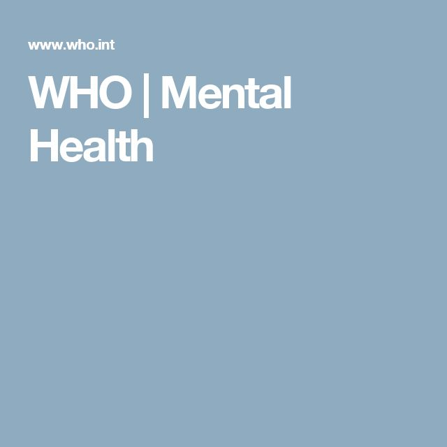 WHO | Mental Health