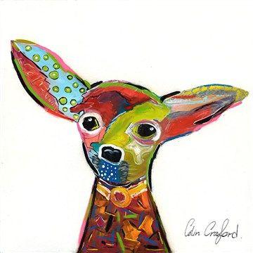 50cm Colin Crawfords Wall Art - Chihuahua.