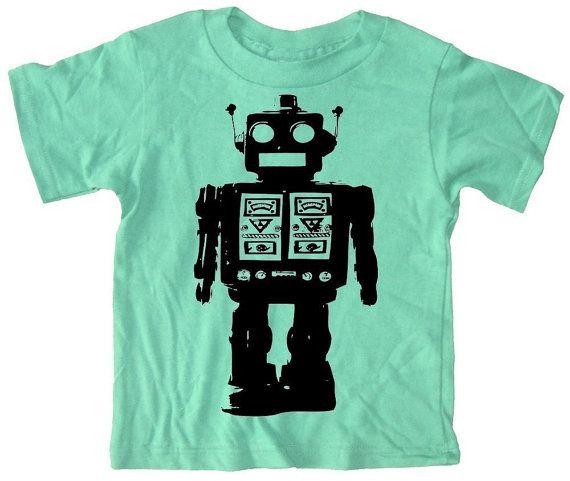 Robot!Robots Tshirt, Birthday, Robots Parties,  T-Shirt,  Tees Shirts, Robots Shirts, Robots Tees, Kids, T Shirts