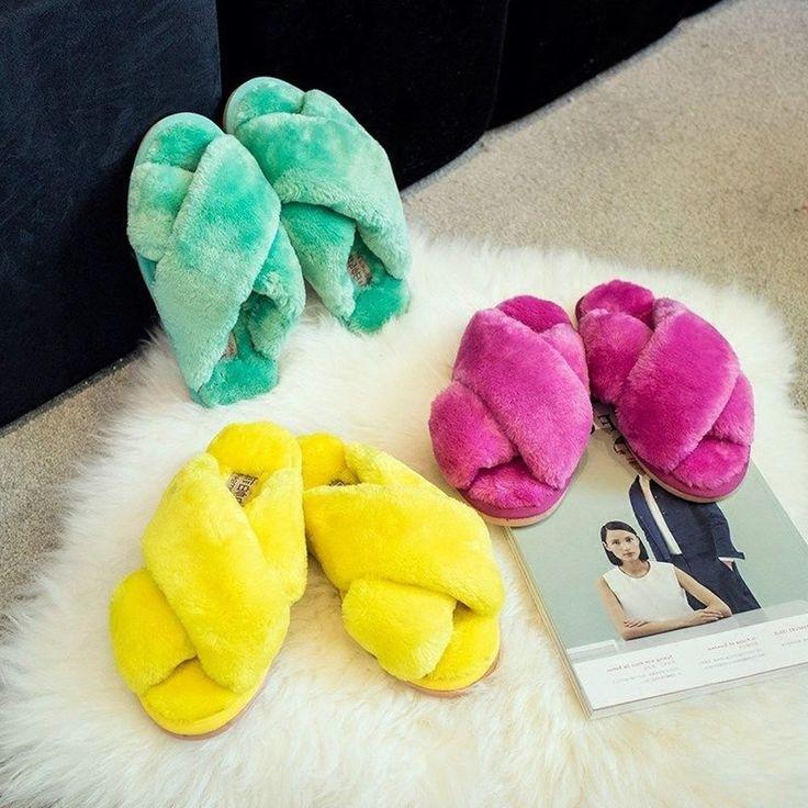 Women Luxury Bedroom Slippers Indoor Plush Warm Comfortable Home Flats Lovely