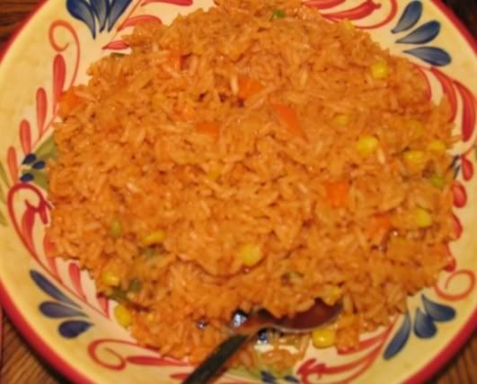 Spanish Rice    http://www.mommyskitchen.net/2008/06/spanish-rice.html