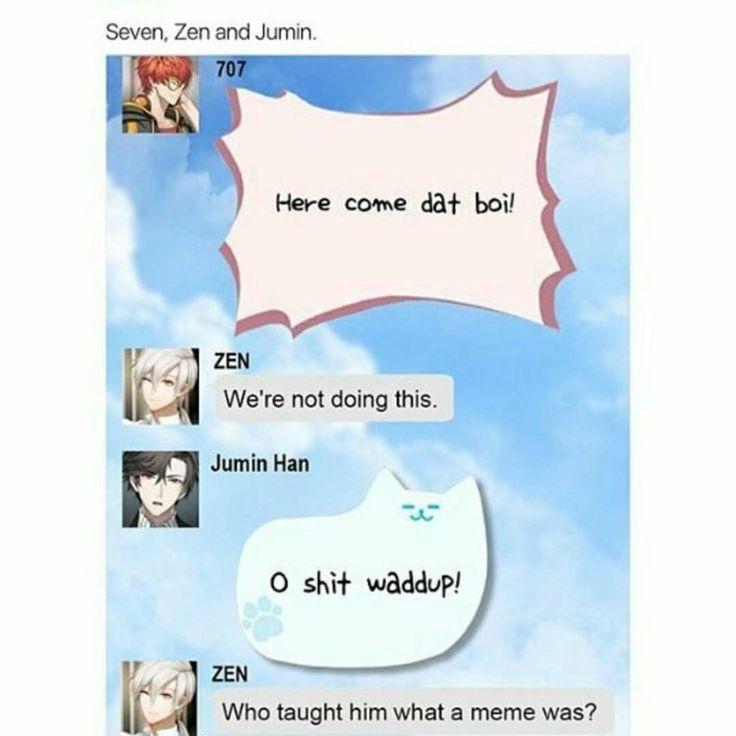 Zen's reaction to what Jumin said though!!!