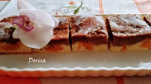 Broskyňový koláč s pudingom - Recept