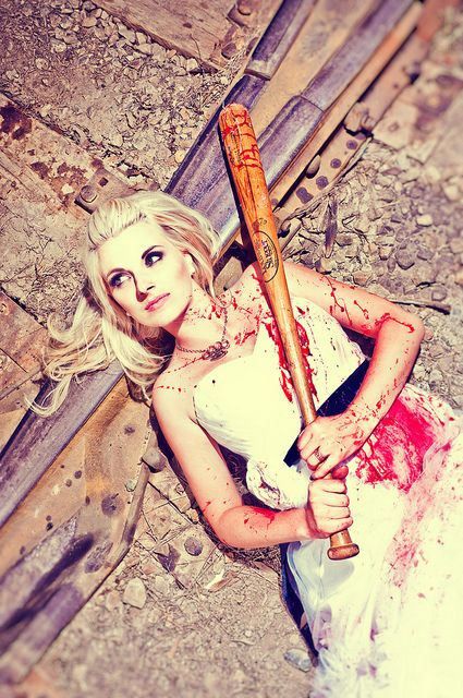 I've always wanted to do this! This theme is actually awesome.. Zombie Trash the Dress