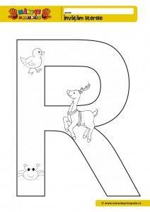 R -010 - Pagini de colorat litera R
