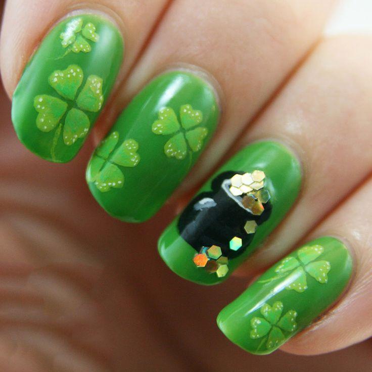 Mejores 55 imágenes de St. Patrick\'s Day Nail - Uñas de San Patricio ...