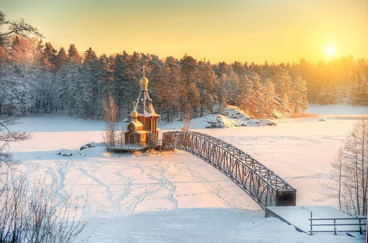Фотография фотографа Гордеев Эдуард - рождественское утро на Вуоксе...