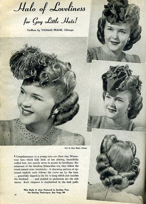 Beauty is a thing of the past: Halo of Loveliness with Gay Little Hats!