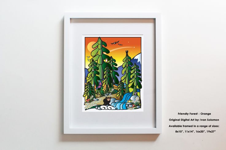 This Friendly Forest design is one of our latest and an instant hit with kids and adults alike. Jam packed with animals milling about in the friendly forest. Also available with a blue background (and fewer animals).