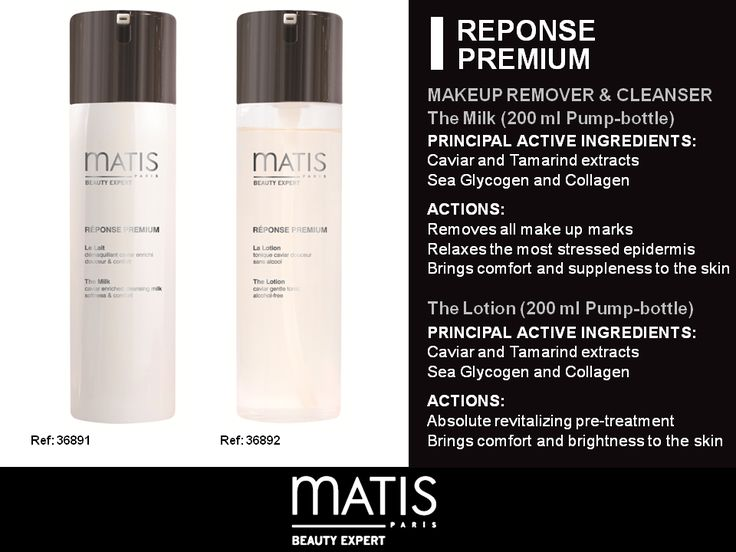 Reponse Premium Make-Up Remover and Cleanser Removes all make up marks Relaxes the most stressed epidermis Brings comfort and suppleness to the skin