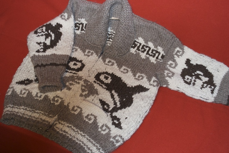 Cowichan Sweater: Orca Design
