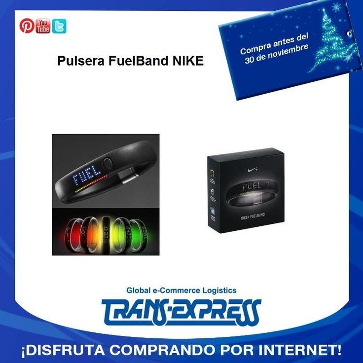 Pulsera NIKE que te permite medir los pasos y actividad física del día. TransExpress compras en internet en El Salvador. Costo aprox $287.28