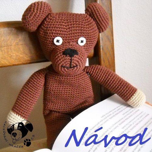 Medvídek Teddy - návod na háčkování ______________ #teddy#bear#medvěd#medvídek#méďa#háčkovaný#crochet#návod#pattern#PDF#hračka#toy