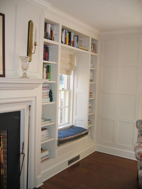 love the bookcase and details